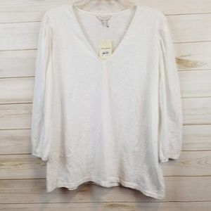 NWT Lucky brand white embroidered top size XL